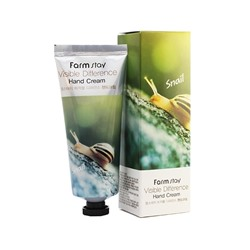 Крем для рук с улитки Farm Stay Visible Difference Snail Hand Cream, 100 мл