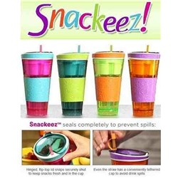 "Стакан контейнер 2в1 ""Snackeez"" SALE"