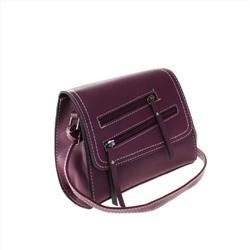8c7baf13b51b Женская сумка Sunday_evening бордового цвета с ремнем через плечо.